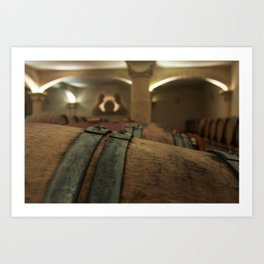French Wine Cellar Art Print