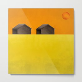 Simple housing - Love me two times Metal Print