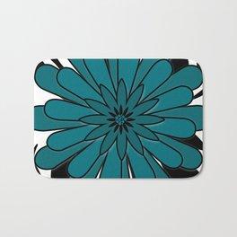 Blue flower . Bath Mat