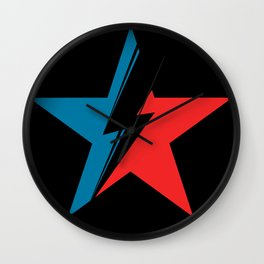 Bowie Star black Wall Clock