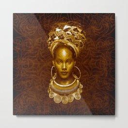 Afrofuturist style Metal Print