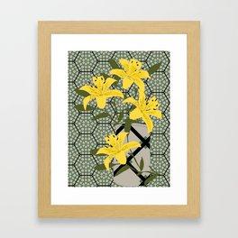 yellow lilies Framed Art Print
