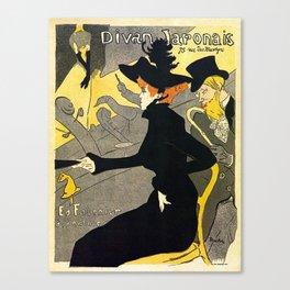 Toulouse Lautrec Divan Japonais music hall Canvas Print