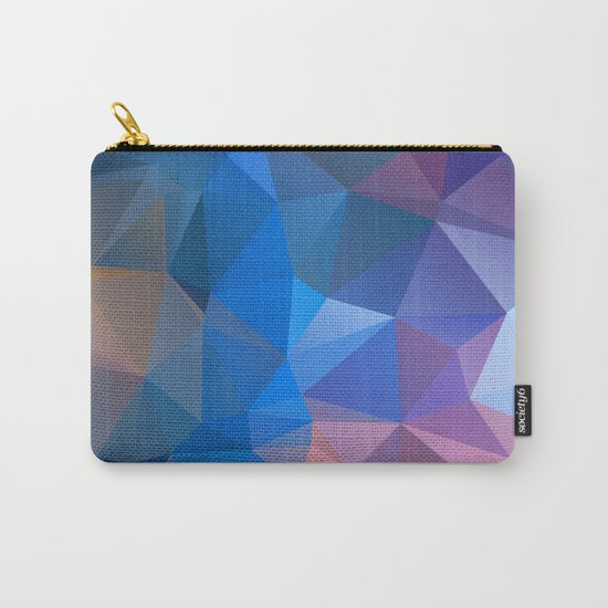 Colored polygon pattern.Amethyst. Carry-All Pouch