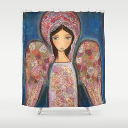 Angel en Rosa by Flor Larios Shower Curtain