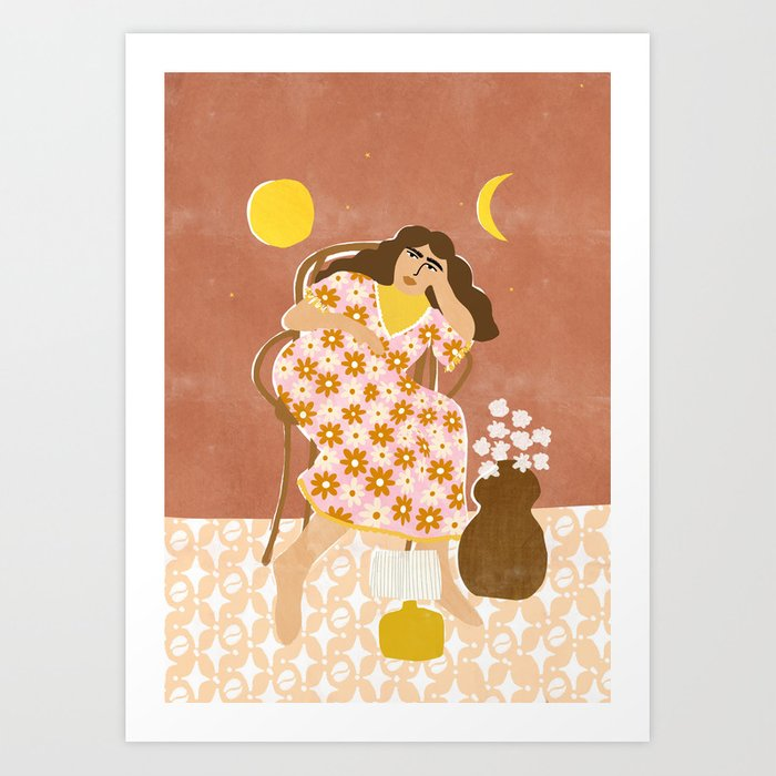 Daydreaming about 70s Art Print