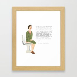 Eleanor Roosevelt Framed Art Print