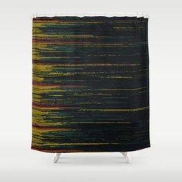 Glitch Art Shower Curtain