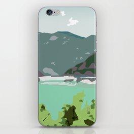 Calm panorama iPhone Skin