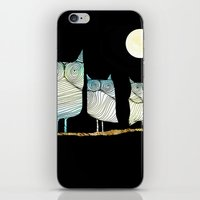 owls iPhone & iPod Skins featuring Owls by Brontosaurus