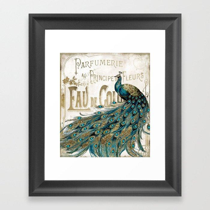 Peacock Jewels Gerahmter Kunstdruck
