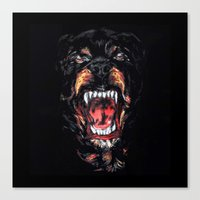 givenchy Canvas Prints featuring Givenchy Dog by I Love Decor