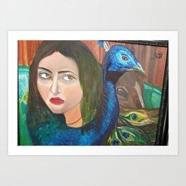 i am WOMAN Art Print