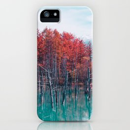 Red Trees iPhone Case