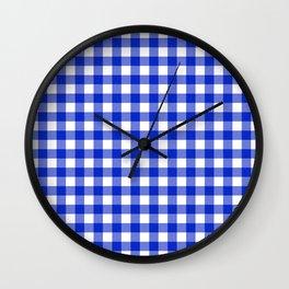 Plaid (blue/white) Wall Clock