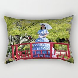 Belle On Red Bridge Rectangular Pillow