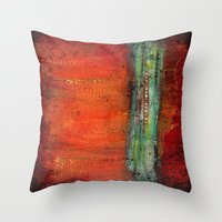 copper Throw Pillows featuring Copper by Paper Rescue Designs