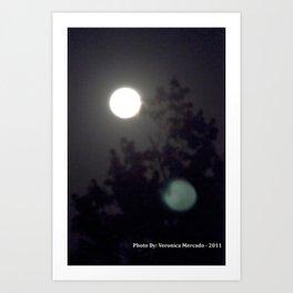 Moonlight Through the Darkness Art Print