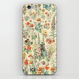 Wildflower Diagram // Fleurs II by Adolphe Millot XL 19th Century Science Textbook Artwork iPhone Skin