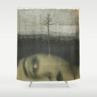 lolita Shower Curtains featuring Lolita by Nikoletta Bati