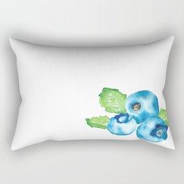 Watercolour Blueberry Rectangular Pillow