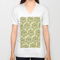 floral pattern V-neck T-shirts featuring Pattern floral by LoRo  Art & Pictures