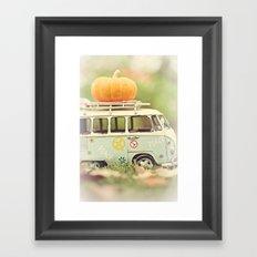 peace and pumpkins Framed Art Print