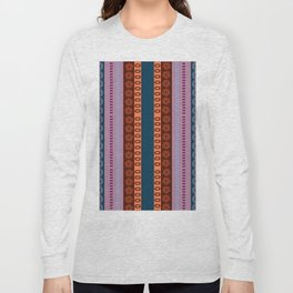 Ethnic Andean Peruvian Textile Pattern Long Sleeve T-shirt