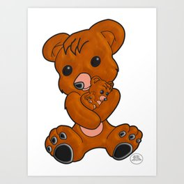 Teddy's Love Art Print