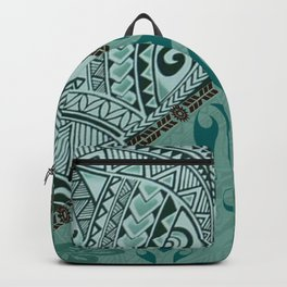 Hawaiian Tapa Cloth - Traditional Print Backpack