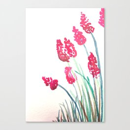 Red flower watercolour Canvas Print