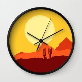 Mojave desert scene Wall Clock