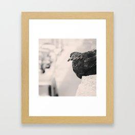 .better alone than alone. Framed Art Print