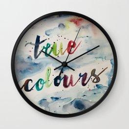 True colors Wall Clock