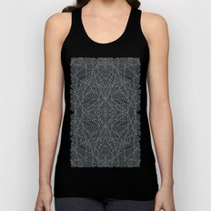 Ab Lace Black and Grey Unisex Tank Top