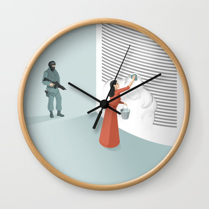 Banned From Literacy Wall Clock