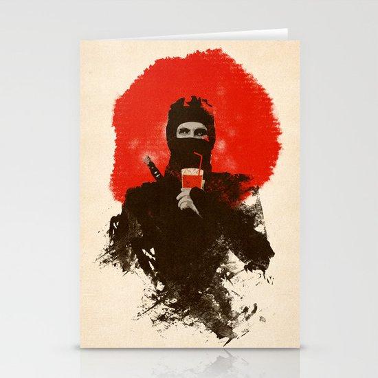 American ninjas like Bloody Mary Stationery Cards