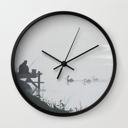 Misty Morning on the Clarence (1994) Wall Clock