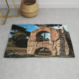 Roman Forum Ruins Rug