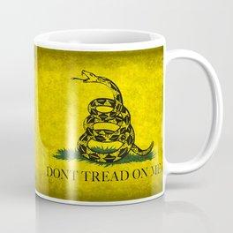 Gadsden Flag, Don't Tread On Me in Vintage Grunge Coffee Mug
