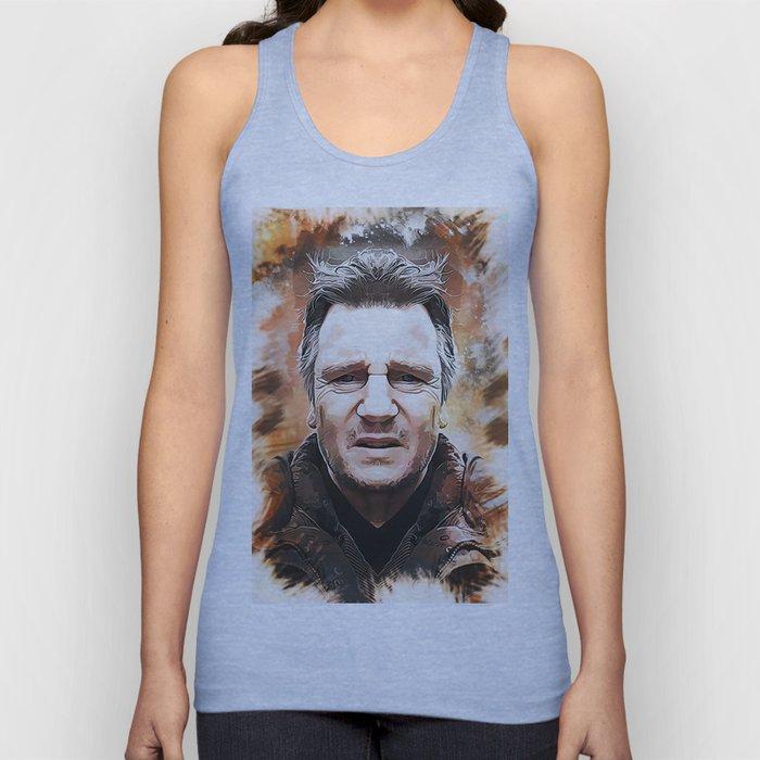 Liam Neeson Caricature Unisex Tank Top