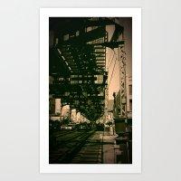 brooklyn Art Prints featuring Brooklyn by metalmind