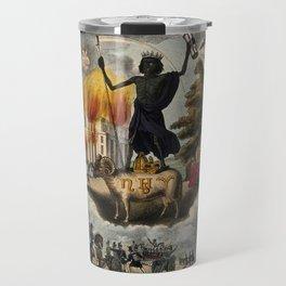 Various apocalyptic scenes, including cholera, earthquake, war, and shipwreck (1836) Travel Mug