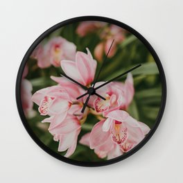 Ice-Cream Orchids Wall Clock