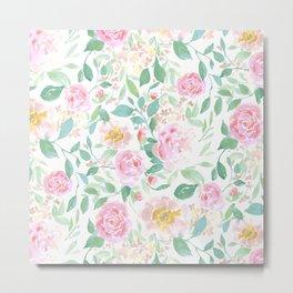 Farmhouse Floral Pastel Metal Print