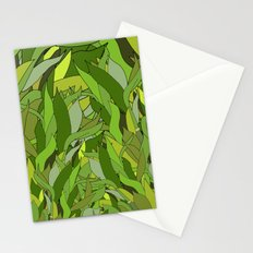 Green Bamboo Leaves Stationery Cards