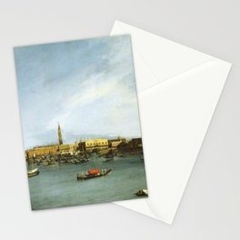 Canaletto - The Bacino di San Marco, Venice, seen from the Giudecca Stationery Cards