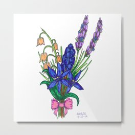 Blue Scilla and Friends Metal Print