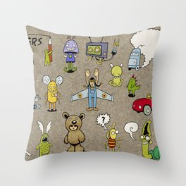 Small Monsters Throw Pillow