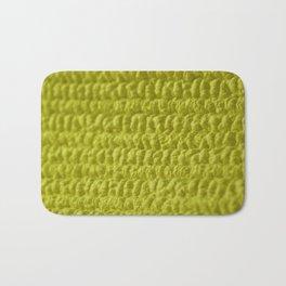 Yellow Bubble Row Textile Photo Art Bath Mat